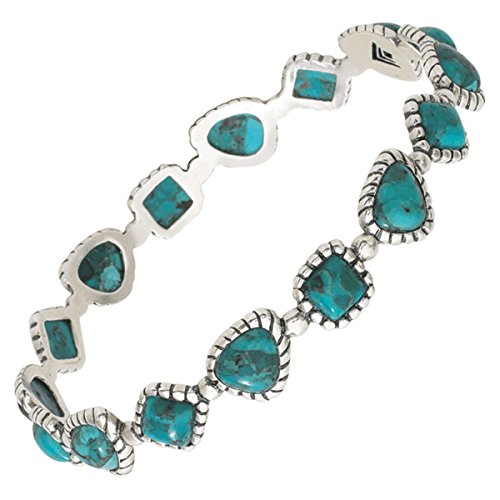 Silpada 'Turquoise Pools' Compressed Turquoise Bangle Bracelet in Sterling Silver