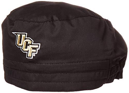 (WonderWink Men's University of Central Florida Scrub Cap, Black, 1SZ)