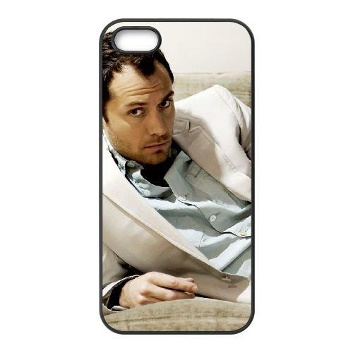 Jude Law 005 coque iPhone 5 5S cellulaire cas coque de téléphone cas téléphone cellulaire noir couvercle EOKXLLNCD24958