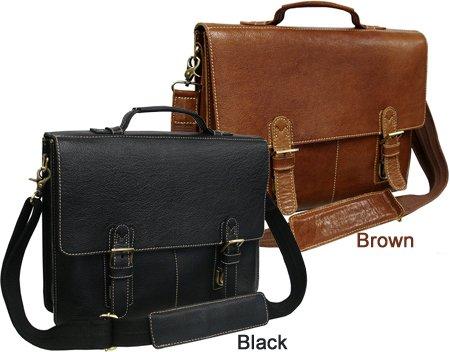Classical Leather Organizer Breifcase(#2750-02) (Brown) - Leather Apc Case