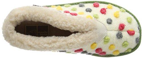 de Creme material estar casa 340156 para mujer sintético de Beige Manitu beige Bunt Zapatillas por qwOHZTnxE
