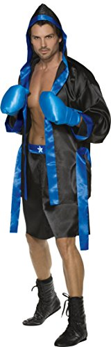 Smiffy's Men's Boxer Costume, Robe, Shorts, Belt and Gloves, Icons and Idols, Serious Fun, Size M, 36391