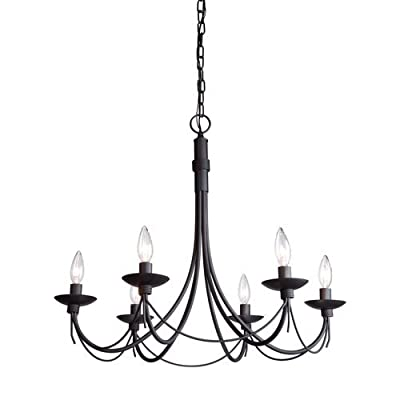 Artcraft Lighting AC1486EB Single-Tier Candle Style Chandelier with 6 Lights - 2,