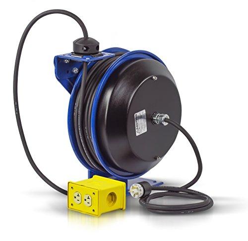 Coxreels PC13-5012-B Power Cord Spring Rewind Reels: Quad Industrial Receptacle, 50