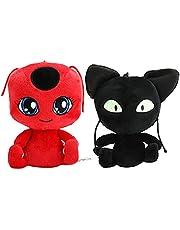 2pc Miraculous Set: Tiki and Plagg Ladybug Noir Cat Set Plush Toy