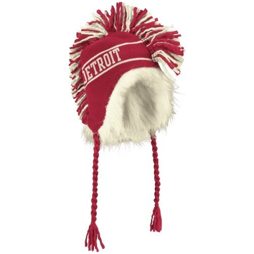 Reebok Detroit Red Wings 2014 Winter Classic Mohawk String Knit Hat - Red