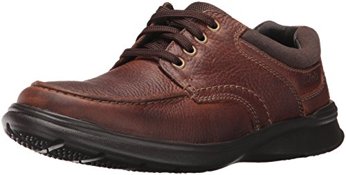 CLARKS Men's Cotrell Edge Oxford, Tobacco Oily, 10 M US (Clarks Shoe Man)