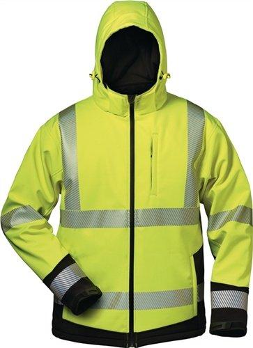 Elysee 23426-XL Melvin Parka d'hiver haute visibilité Taille XL Jaune Fluorescent/Noir