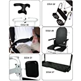"""Combi Chair Accessories Transport Seat Cover. 17½""""W x 20""""D (45 x 51cm). Black polyurethane flexible seat fits over commode opening and converts Combi Tilt Chair into a transport chair."""