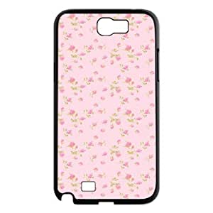 Pink Floral Brand New Cover Case for Samsung Galaxy Note 2 N7100,diy case cover ygtg570432
