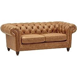"Stone & Beam Bradbury Chesterfield Modern Sofa, 79"" W, Cognac"