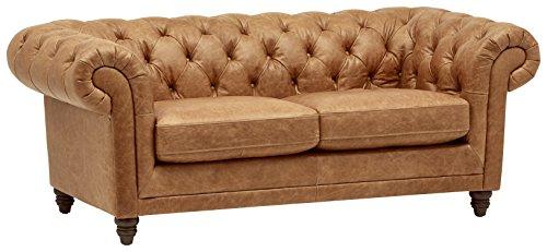 "Stone & Beam Bradbury Chesterfield Tufted Sofa, 79"" Black by Stone & Beam"
