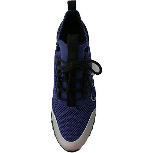 Calvin Klein Ron Mesh/Brushed Metal, Zapatillas para Hombre Varios Colores (Grey-blue/silver)