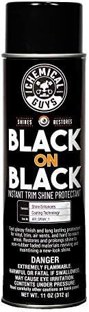 Chemical Guys AIR_Spray_1 Black On Black Instant Shine Interior & Exterior Spray Dressing, 11 OZ Ounce (Single Unit)