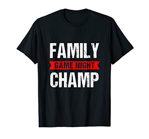 Family Game Night Champ Funny Trophy T-Shirt