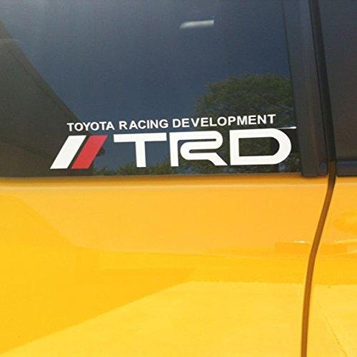 TRD DECALS toyota racing development Decals (2 decals X 8 INCHES)