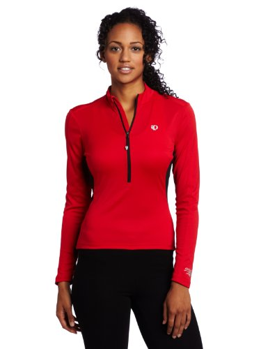 Pearl Izumi Women's Select Long Sleeve Jersey, True Red, Large (Sleeve Womens Cycling Jersey Long)