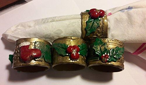 Figurine Mistletoe - Set of 4 Christmas Napkin holders