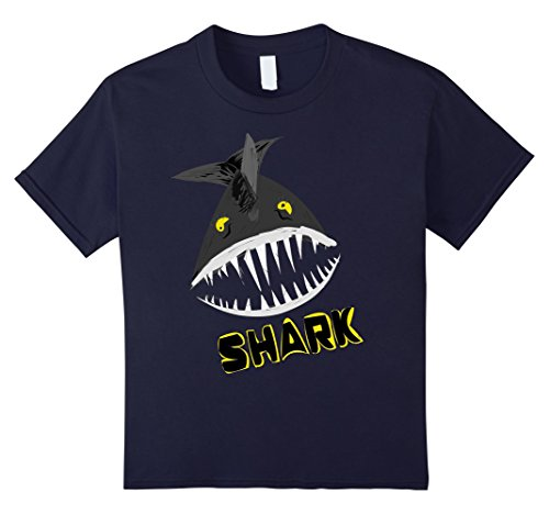 Kids Boo Halloween T-Shirt With Shark And Glowing Eyes 12 (Homemade Shark Boy Costume)