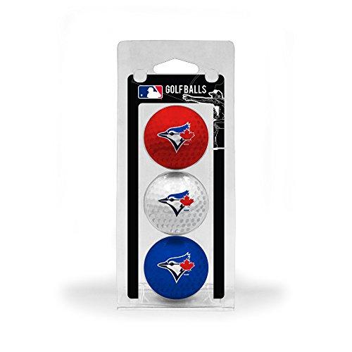 Team Golf MLB Toronto Blue Jays Regulation Size Golf Balls, 3 Pack, Full Color Durable Team Imprint (Toronto Blue Jays Golf Ball)