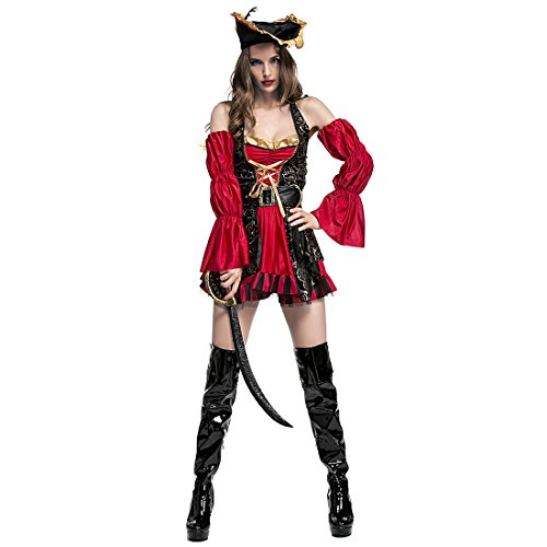 Slocyclub Women's Retro Spanish Adult Pirate Costume - Horse Costume Rental