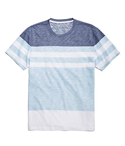 American Rag Mens Heathered Striped Basic T-Shirt, Blue, Small