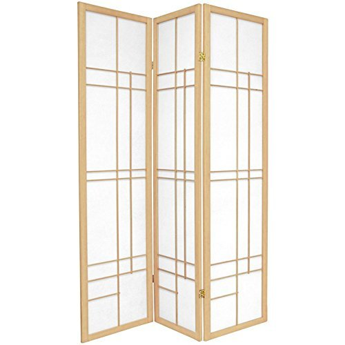 Oriental Furniture 6 ft. Tall Eudes Shoji Screen - Natural - 3 Panels by ORIENTAL FURNITURE