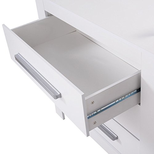 Costzon White Changing Table Dresser Baby Room Nursery Furniture Diaper Station 3 Drawer by Costzon (Image #5)