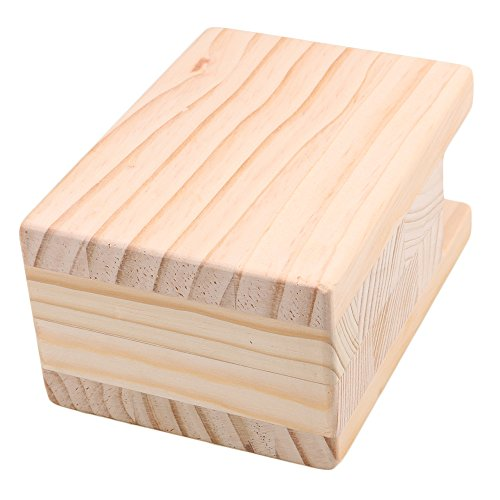 BQLZR 10x7x13.5cm Wood Table Desk Bed Riser Lift Furniture Lifter Storage for 4CM Groove Feet Up to 10CM Lift Pack of 4 by BQLZR (Image #2)