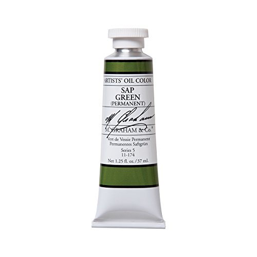 M. Graham Artist Oil Paint Sap Green, Permanent 1.25oz/37ml Tube