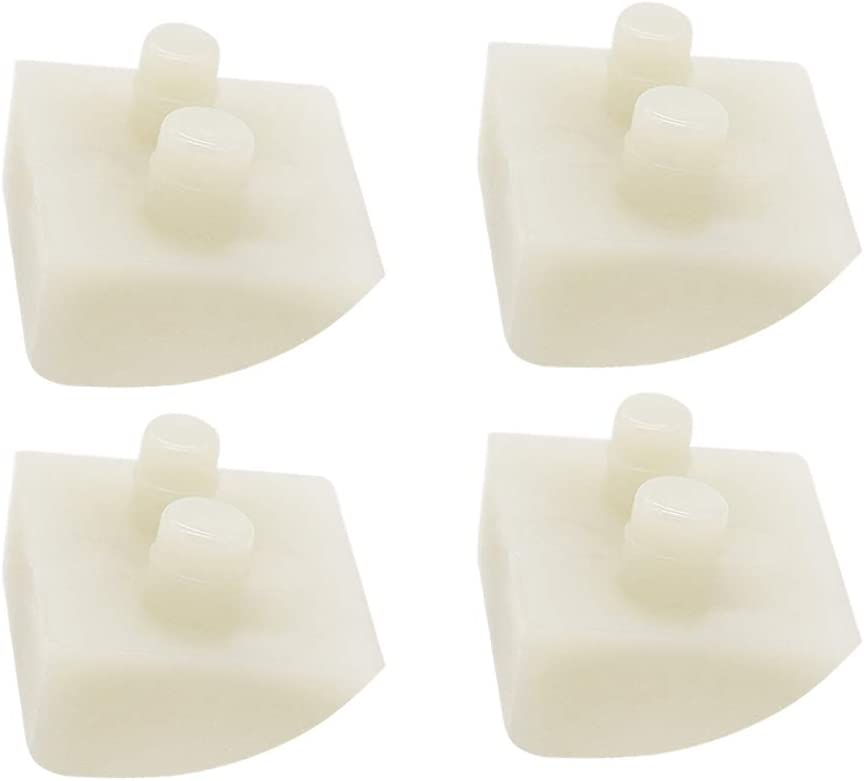 Prime&Swift Pod Shoes/Feet Clear (for Concrete, 4 Pack) AXV414P Replacement Pool Shoes for Hayward Navigator Cleaners