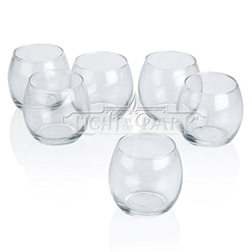 Clear Glass Hurricane Votive Candle Holders Set of 12