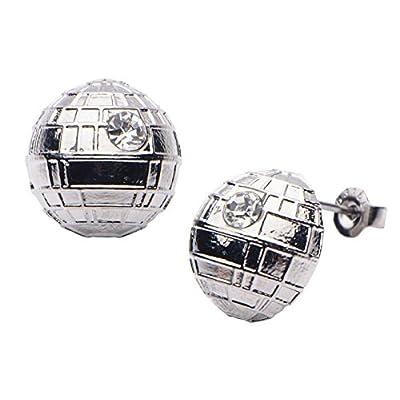 Women's Stainless Steel Star Wars Death Star Stud Earrings supplier