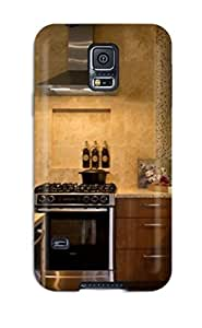 (AikoTBm3090wbKVc)durable Protection Case Cover For Galaxy S5(contemporary Kitchen With Tile Backsplash And Sconces)