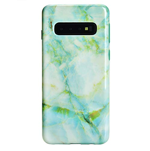 Velvet Caviar Case Compatible with Samsung Galaxy S10 - Cute Premium Protective Phone Cases for Girls Women [Drop Test Certified Cover] - Green Marble