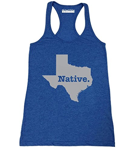 P&B Exclusive State Native Collection - Texas Women's Tank Top, S, H. Royal