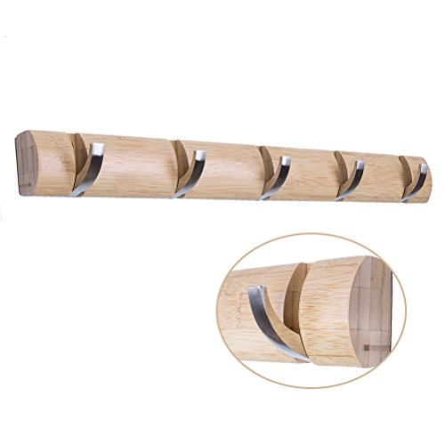 HBlife 5 Hook Bamboo Wall Mounted Hanger product image