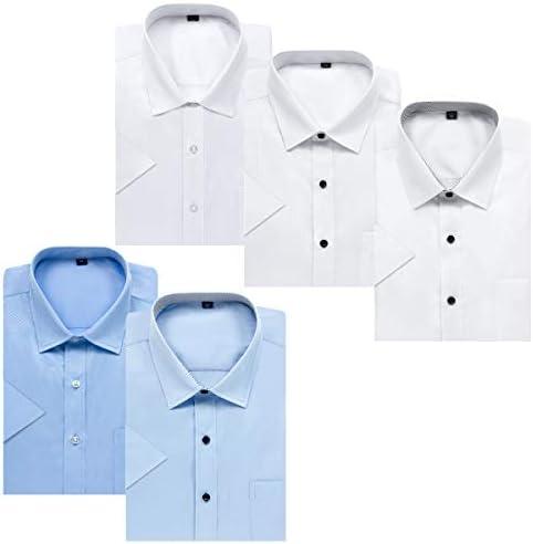 ワイシャツセット 半袖 ワイシャツ メンズ 5枚セット 形態安定 クールビズ 速乾 ビジネス夏 ブルー ホワイト