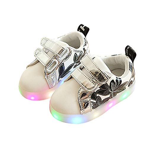 unyielding1 Kids Boys Girls LED Light up Shoes Fashion Sports Sneakers