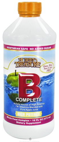 Buried Treasure Vitamins ''B'' Complete - 16 Oz, 2 Pack (image may vary) by Buried Treasure