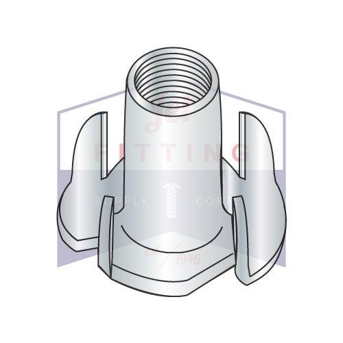 1/4-20X5/8 4 Prong Tee Nuts   Straight Barrel   Steel   Zinc (QUANTITY: 2000)
