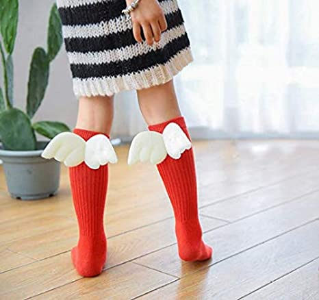 Amazon.com: Winter Kids Children Girls Long Socks Cute Over Knee High Angel wings Baby Gifts (S): Home Improvement