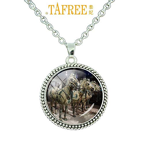 Pendant Necklaces - Terra Cotta Necklace Famous Historic and Cultural Sites of China Necklace Men Women Trendy Jewelry Gift BM57 - by Mct12-1 PCs