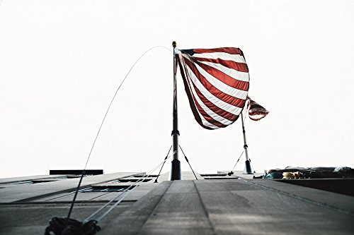Home Comforts Canvas Print Steel Pole Metal Structure Building Rope Flag Stretched Canvas 10 x ()
