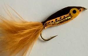 Señuelos mosca Janssen Minnow para trucha, calidad Epoxy, tamaño 10, 4 unidades