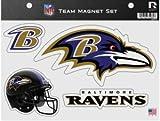 "NFL Ravens Team Magnet Sheet, 9"" x 5"" x 0.2"", Team Logo"
