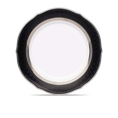 Noritake Austin Platinum Scalloped Accent Plate, 9-Inch