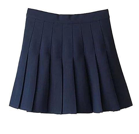Women School Uniforms plaid Pleated Mini Skirt - Pleated Plaid Mini