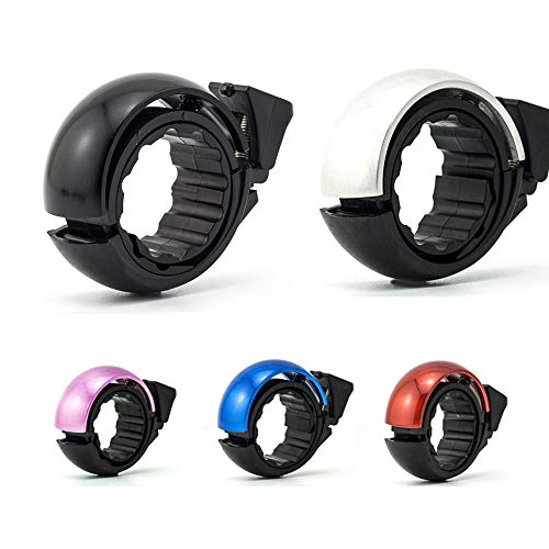(Lesovi Bicycle Bells Buitable for Mountain Biking and Road Bikes,Aluminium Alloy Bike Bell for Adults/Girls/Boys Ring Horn Accessories for Handlebar Diameter 24mm-31.8mmLarge/Removable …)