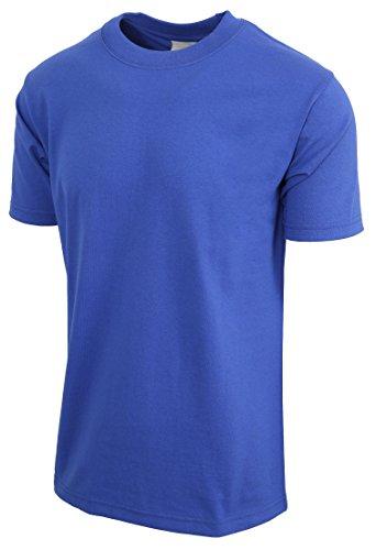 Heavyweight Cotton Tee 100% (Mens Super Max T Shirt Heavyweight Solid Short Sleeve Tee S-5XL (1ks06_Royal Blue/4XL Tall))